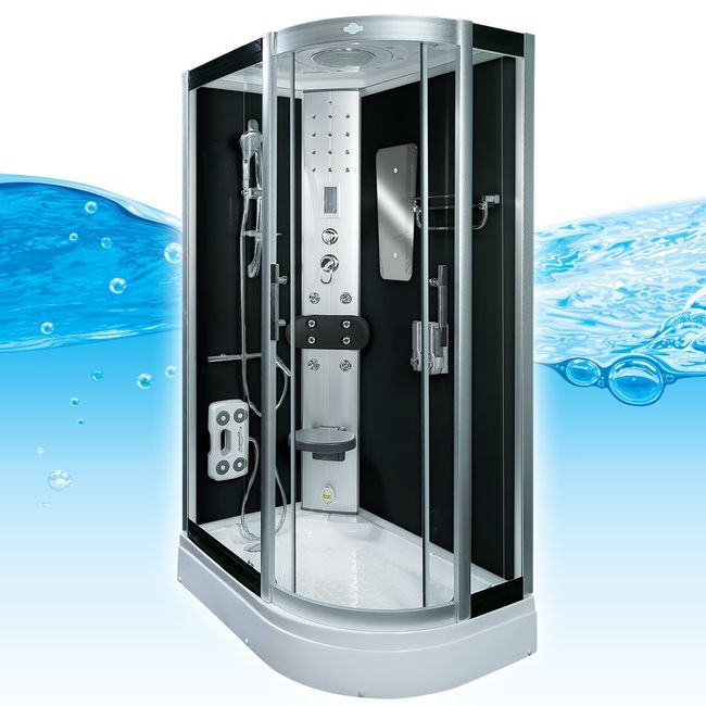 AcquaVapore DTP8060-7301R Dusche Duschtempel Komplett Duschkabine -Th. 80x120 – Bild 1
