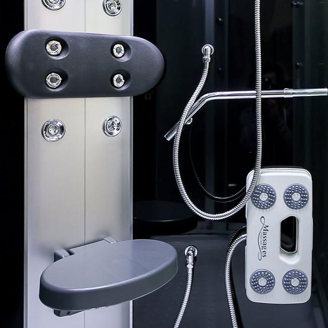 AcquaVapore DTP8060-7310L Dusche Duschtempel Komplett Duschkabine 120x80 – Bild 11