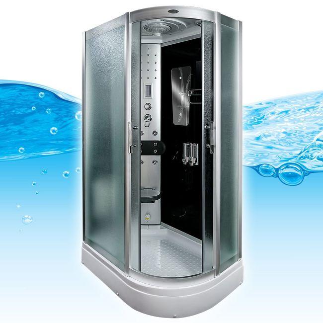 AcquaVapore DTP8060-7311R Dusche Duschtempel Komplett Duschkabine -Th. 80x120