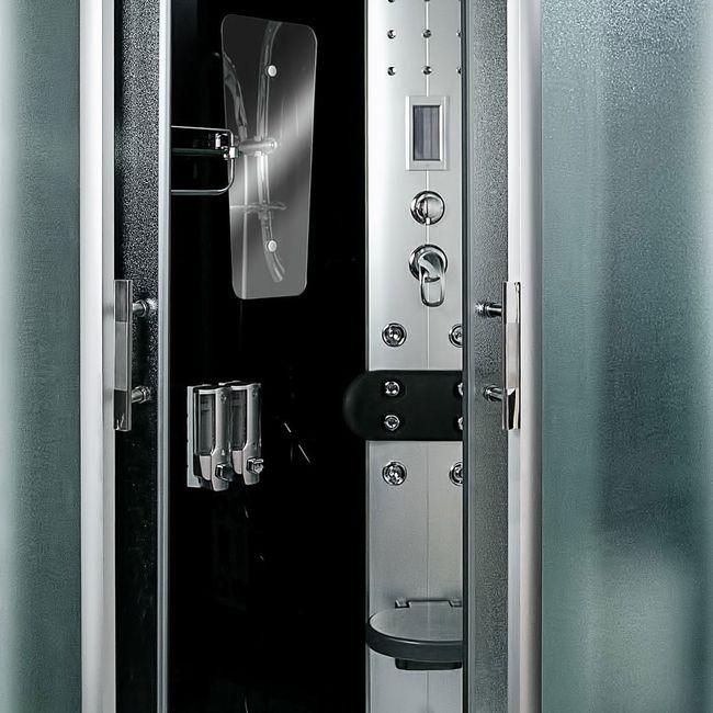 AcquaVapore DTP8060-7313L Dusche Dampfdusche Duschtempel Duschkabine -Th. 120x80 – Bild 9