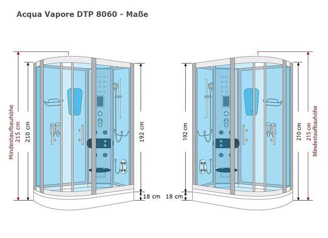 AcquaVapore DTP8060 WS Dampfdusche Dusche Duschkabine 120x80L / 80x120R – Bild 10