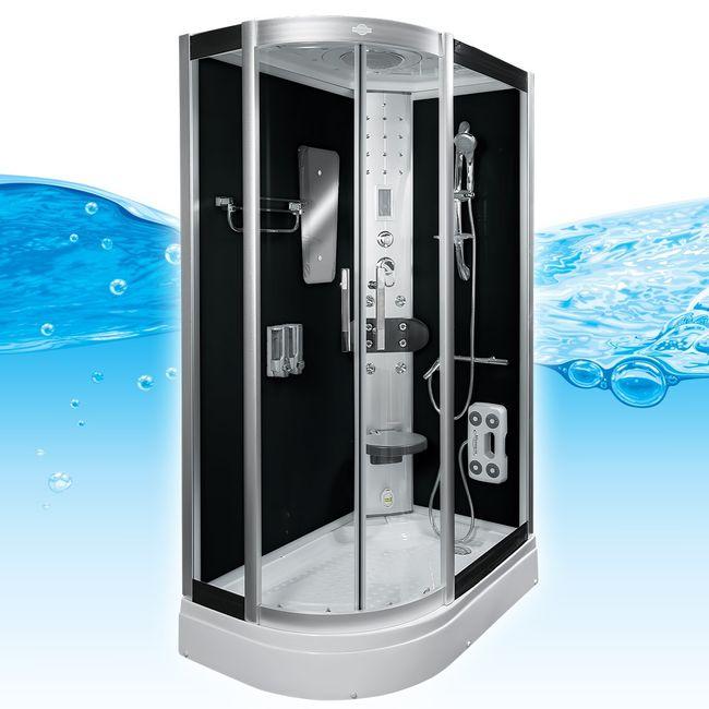 AcquaVapore DTP8060 SW Dampfdusche Dusche Duschkabine 120x80L / 80x120R – Bild 2