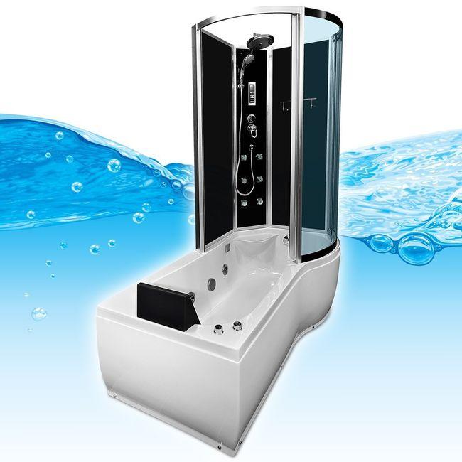 AcquaVapore DTP8050-SW Whirlpool, Badewanne, Dusche, Duschkabine 170x98 – Bild 5
