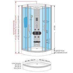 AcquaVapore DTP8046-0000 Dusche Duschtempel Komplett Duschkabine 80x80 Bild 6
