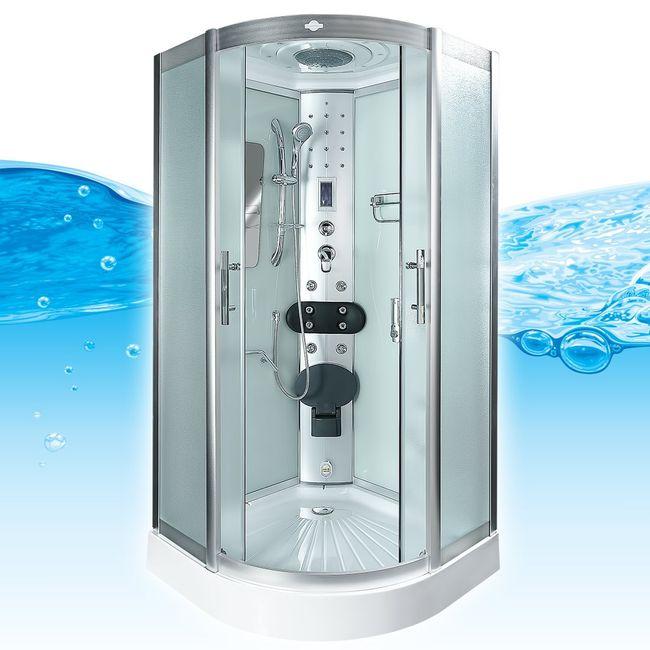 AcquaVapore DTP8046-0011 Dusche Duschtempel Komplett Duschkabine -Th. 80x80 – Bild 3