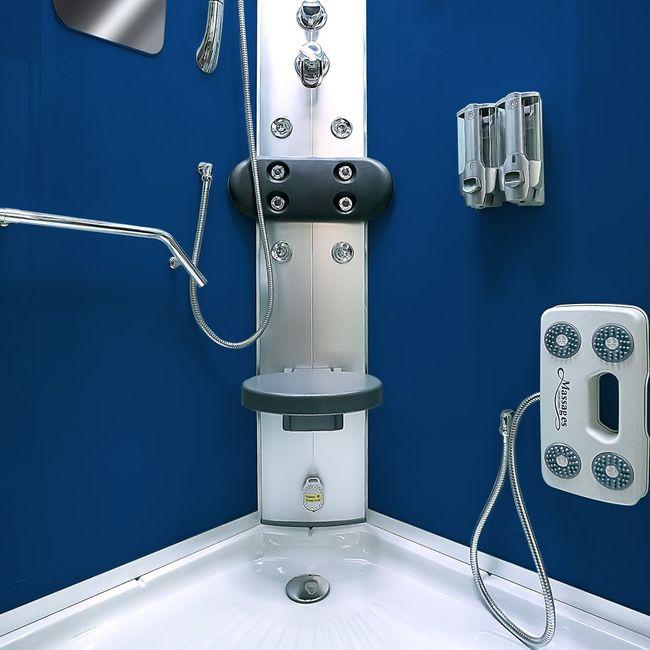 AcquaVapore DTP8046-2200 Dusche Duschtempel Komplett Duschkabine 100x100 – Bild 12
