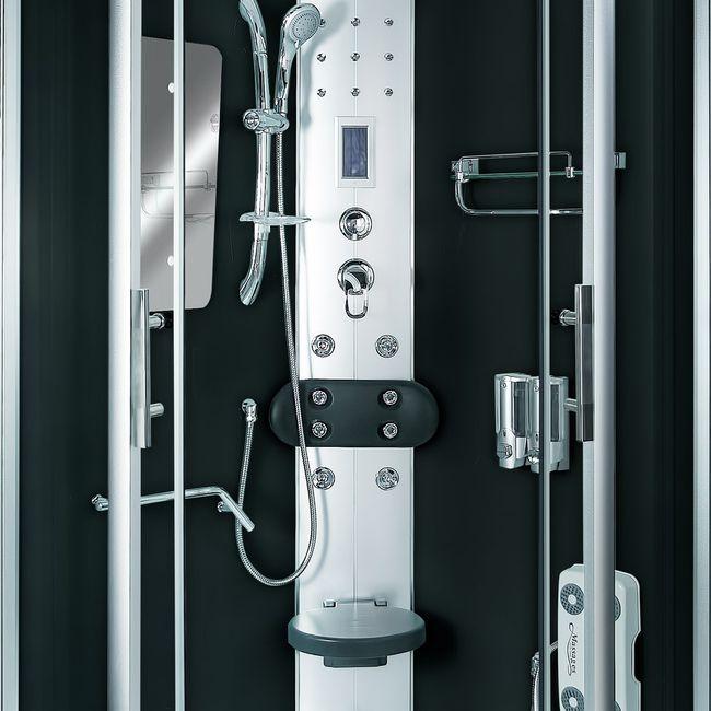 AcquaVapore DTP8046-0300 Dusche Duschtempel Komplett Duschkabine 80x80 – Bild 10