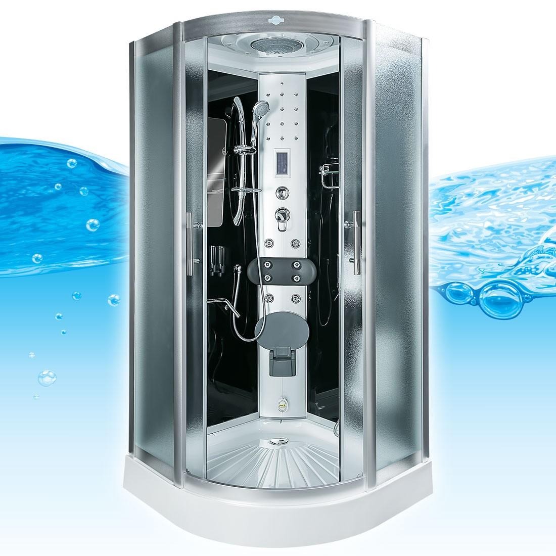 acquavapore dtp8046 0310 dusche duschtempel komplett duschkabine 80x80 ebay. Black Bedroom Furniture Sets. Home Design Ideas