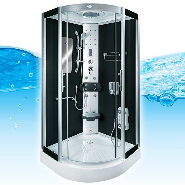 AcquaVapore DTP8046-2300 Dusche Duschtempel Komplett Duschkabine 100x100 – Bild 1
