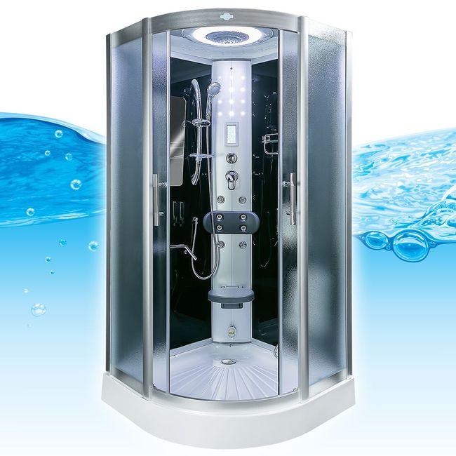 AcquaVapore DTP8046-6311 Dusche Duschtempel Komplett Duschkabine -Th. 100 XL – Bild 4