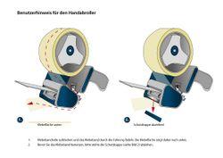 (0,02€/m) 6 Rollen Klebeband 66m transp. Packband Paketband + 1 Profi Abroller Bild 3