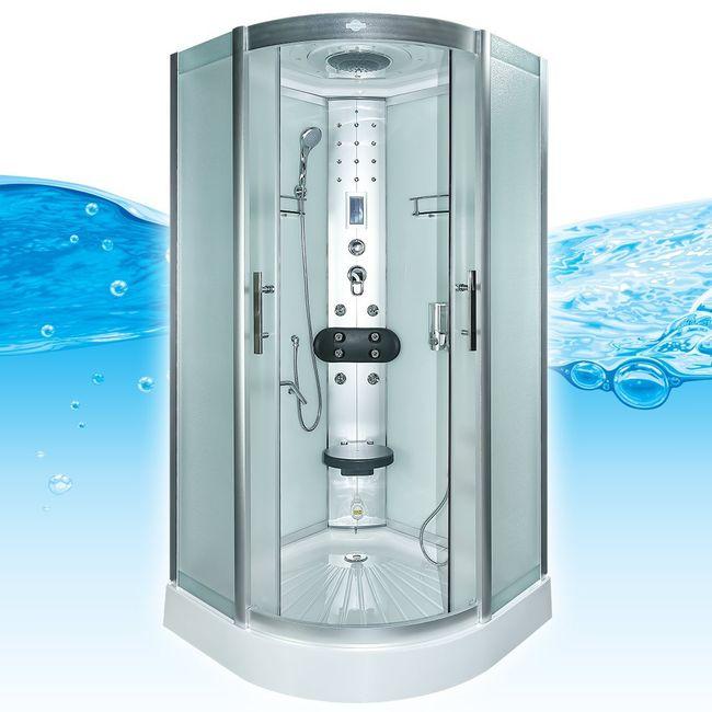 AcquaVapore DTP8058-0011 Dusche Duschtempel Komplett Duschkabine -Th. 80x80 – Bild 1