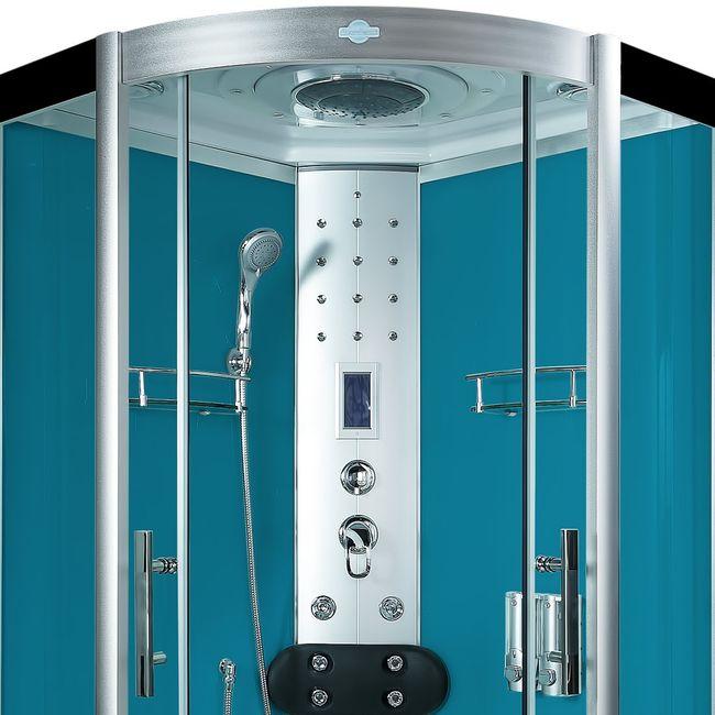 AcquaVapore DTP8058-0100 Dusche Duschtempel Komplett Duschkabine 80x80 – Bild 8