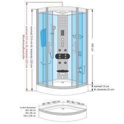 AcquaVapore DTP8058-0111 Dusche Duschtempel Komplett Duschkabine -Th. 80x80 Bild 6