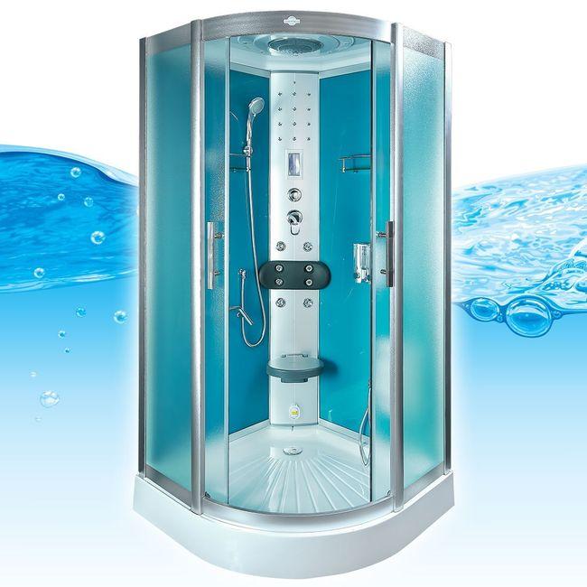 AcquaVapore DTP8058-0112 Dusche Dampfdusche Duschtempel Duschkabine 80x80 – Bild 1