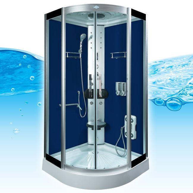AcquaVapore DTP8058-0200 Dusche Duschtempel Komplett Duschkabine 80x80 – Bild 2