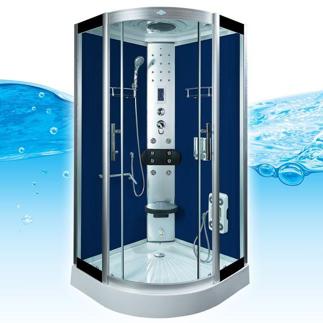 AcquaVapore DTP8058-1201 Dusche Duschtempel Komplett Duschkabine -Th. 90x90 – Bild 1