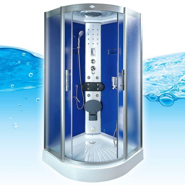 AcquaVapore DTP8058-1212 Dusche Dampfdusche Duschtempel Duschkabine 90x90 – Bild 3