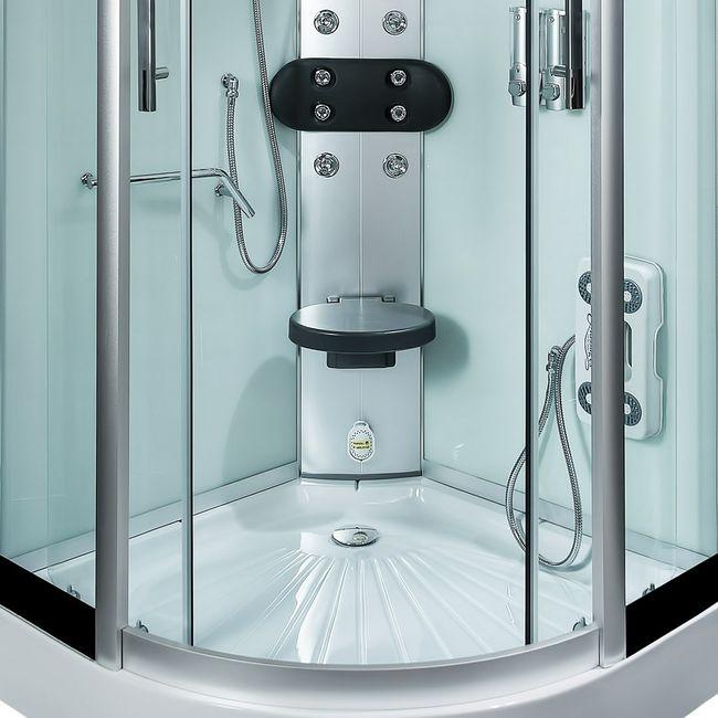 AcquaVapore DTP8058-2001 Dusche Duschtempel Komplett Duschkabine -Th. 100x100 – Bild 12