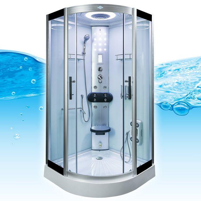 AcquaVapore DTP8058-2001 Dusche Duschtempel Komplett Duschkabine -Th. 100x100 – Bild 4