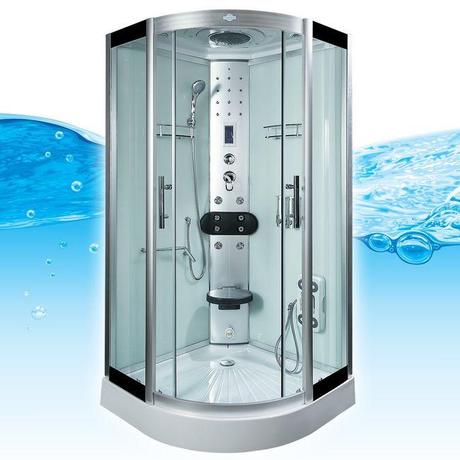 AcquaVapore DTP8058-5002 Dusche Dampfdusche Duschtempel Duschkabine 90x90 XL – Bild 1