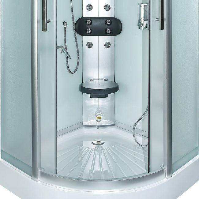 AcquaVapore DTP8058-5010 Dusche Duschtempel Komplett Duschkabine 90x90 XL – Bild 12