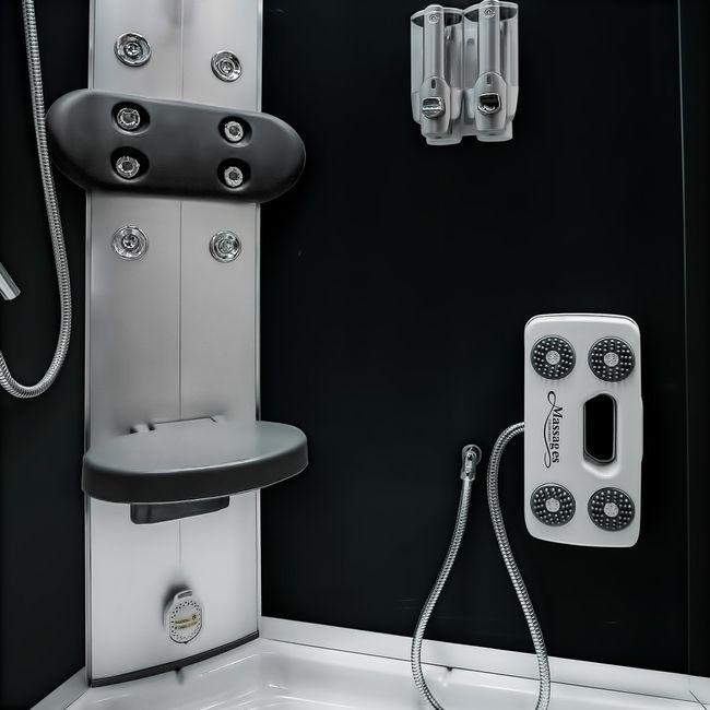 AcquaVapore DTP8058-5300 Dusche Duschtempel Komplett Duschkabine 90x90 XL – Bild 11