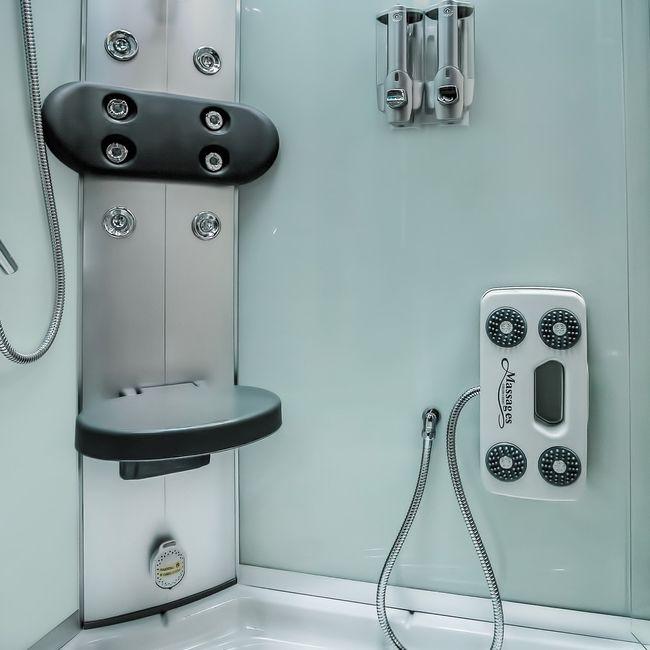 AcquaVapore DTP8058-6000 Dusche Duschtempel Komplett Duschkabine 100x100 XL – Bild 11