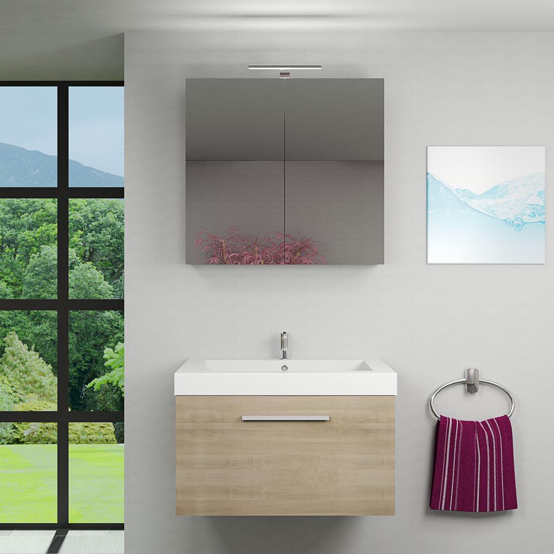 Spiegelschrank, Badspiegel, Badezimmer Spiegel City 100