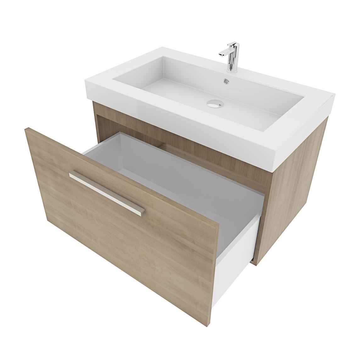 waschtisch mit waschbecken unterschrank city 100 80cm. Black Bedroom Furniture Sets. Home Design Ideas