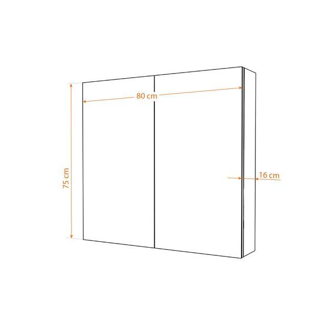 Badmöbel Set City 100 V5 Esche schwarz, Badezimmermöbel, Waschtisch 80cm – Bild 9