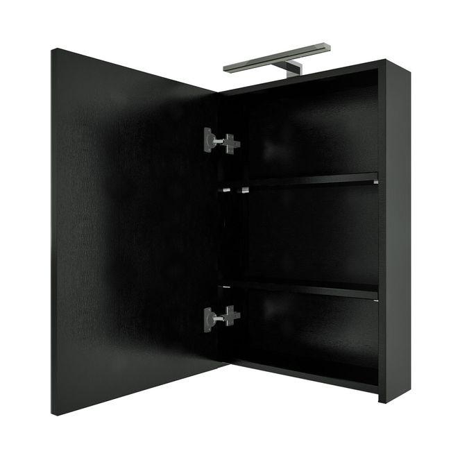 Badmöbel Set City 100 V7 Esche schwarz, Badezimmermöbel, Waschtisch 50cm – Bild 7