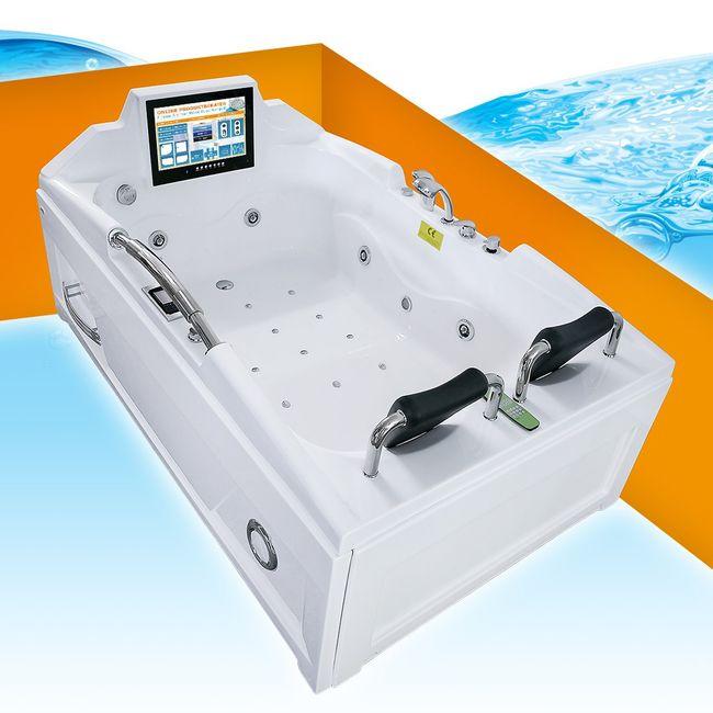 Whirlpool Vollausstattung Pool Wanne Eckwanne mit TV A2118R 120x188cm – Bild 1