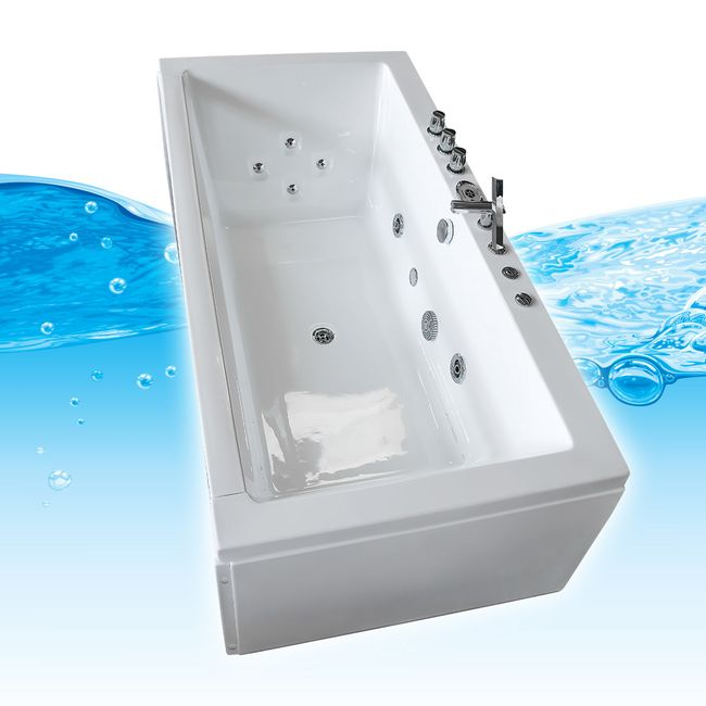 AcquaVapore Whirlpool Pool Badewanne Wanne A1813RB mit Reinigungsfunktion 90x185 – Bild 3