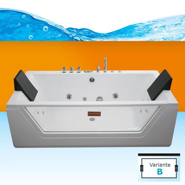 AcquaVapore Whirlpool Pool Badewanne Wanne A1813-ALL mit Reinigungsfunktion – Bild 3