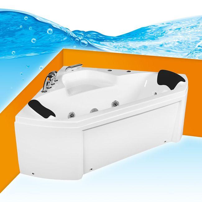 Whirlpool Pool Badewanne Eckwanne Wanne A1402N 135x135 – Bild 1