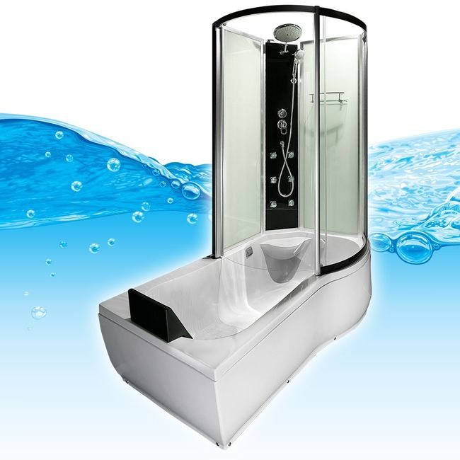 AcquaVapore DTP8050-WS Whirlpool, Badewanne, Dusche, Duschkabine 170x98 – Bild 4