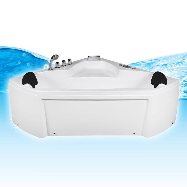 Whirlpool Pool Badewanne Eckwanne Wanne A1402R 135x135 – Bild 2