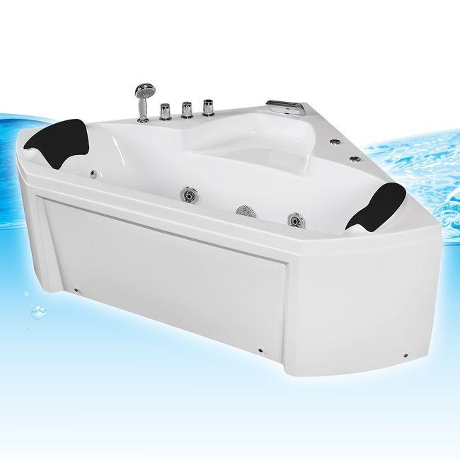 Whirlpool Pool Badewanne Eckwanne Wanne A1402N-SC 135x135 mit Reinigungsfunktion – Bild 3