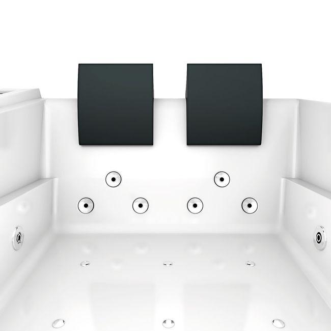 Whirlpool Vollausstattung Pool Eckwanne Wanne A612H Reinigungsfunktion 180x135 – Bild 7