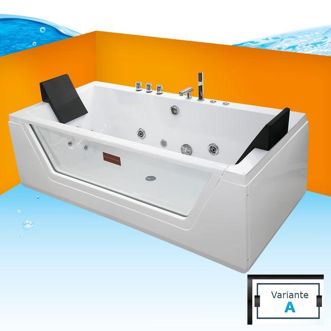 AcquaVapore Whirlpool Pool Badewanne Wanne A1813NA mit Reinigungsfunktion 90x185 – Bild 1