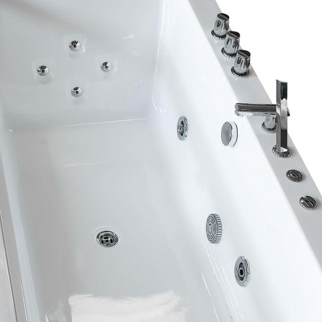 AcquaVapore Whirlpool Pool Badewanne Wanne A1813NA mit Reinigungsfunktion 90x185 – Bild 10