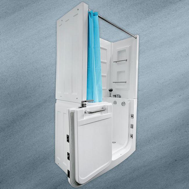 Adagio D Pflege- und Therapiedusche mit Sitz und Tür – Bild 8