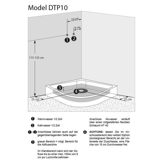 AcquaVapore DTP10-2000 Dusche Duschtempel Duschkabine Fertigdusche 100x100 – Bild 5