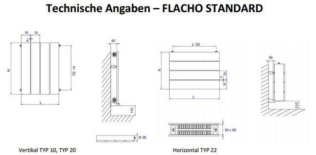 Flach Badheizkörper Flacho Standard – Bild 4