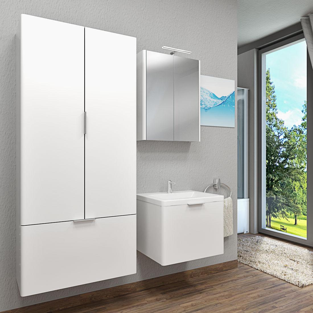 badschrank h ngeschrank hochschrank xxl 80x176x36cm. Black Bedroom Furniture Sets. Home Design Ideas