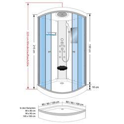 AcquaVapore DTP10-0001 Dusche Duschtempel Duschkabine Fertigdusche 80x80 Bild 5