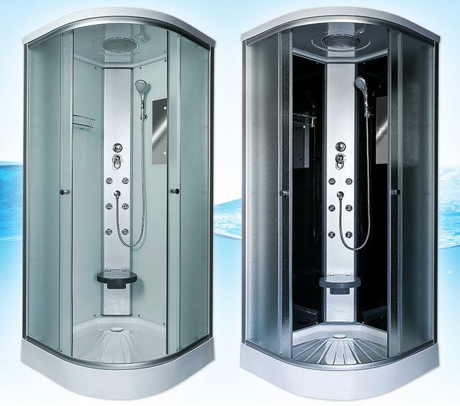 AcquaVapore DTP10 Dusche Duschkabine Fertigdusche 80x80 90x90 100x100 – Bild 1