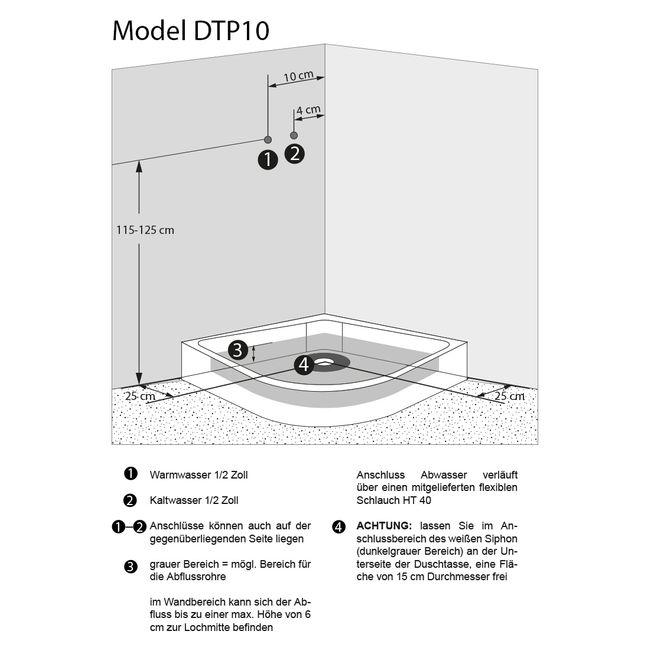 AcquaVapore DTP10 Dusche Duschkabine Fertigdusche 80x80 90x90 100x100 – Bild 7