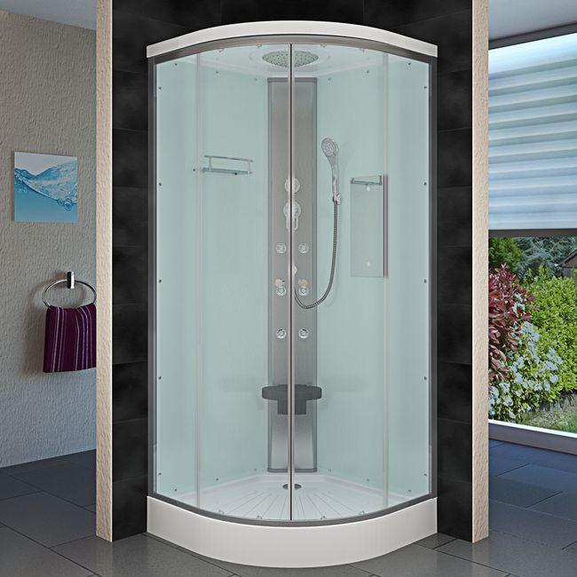 AcquaVapore DTP10 Dusche Duschkabine Fertigdusche 80x80 90x90 100x100 – Bild 3